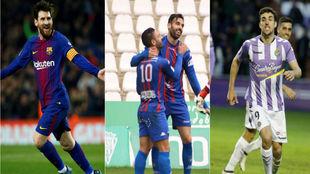Messi, Enric Gallego y Jaime Mata