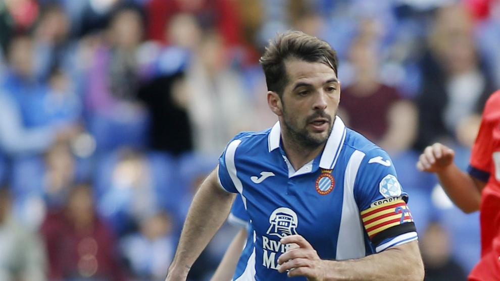 Víctor Sánchez, en su partido 200 con el Espanyol.