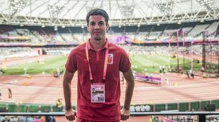 Miguel Ángel López, en el estadio olímpico de Londres