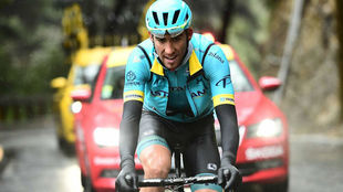 Omar Fraile, el pasado domingo en la última etapa de la París-Niza.
