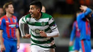 Battaglia celebra el gol de la clasificación