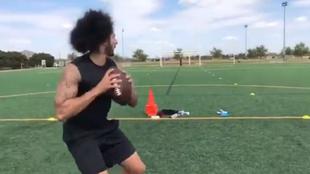 Kaepernick, en un entrenamiento en Houston