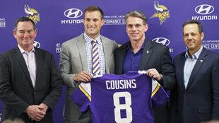 Kirk Cousins, en su presentación con los Vikings de Minnesota