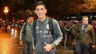 Edson Álvarez, en la concentración de la selección mexicana