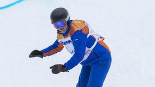Astrid Fina, en el banked slalom en Pyeongchang