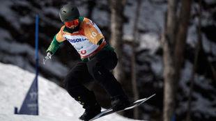 Sean Pollard compitiendo en boardercross en los Juegos Paralímpicos...