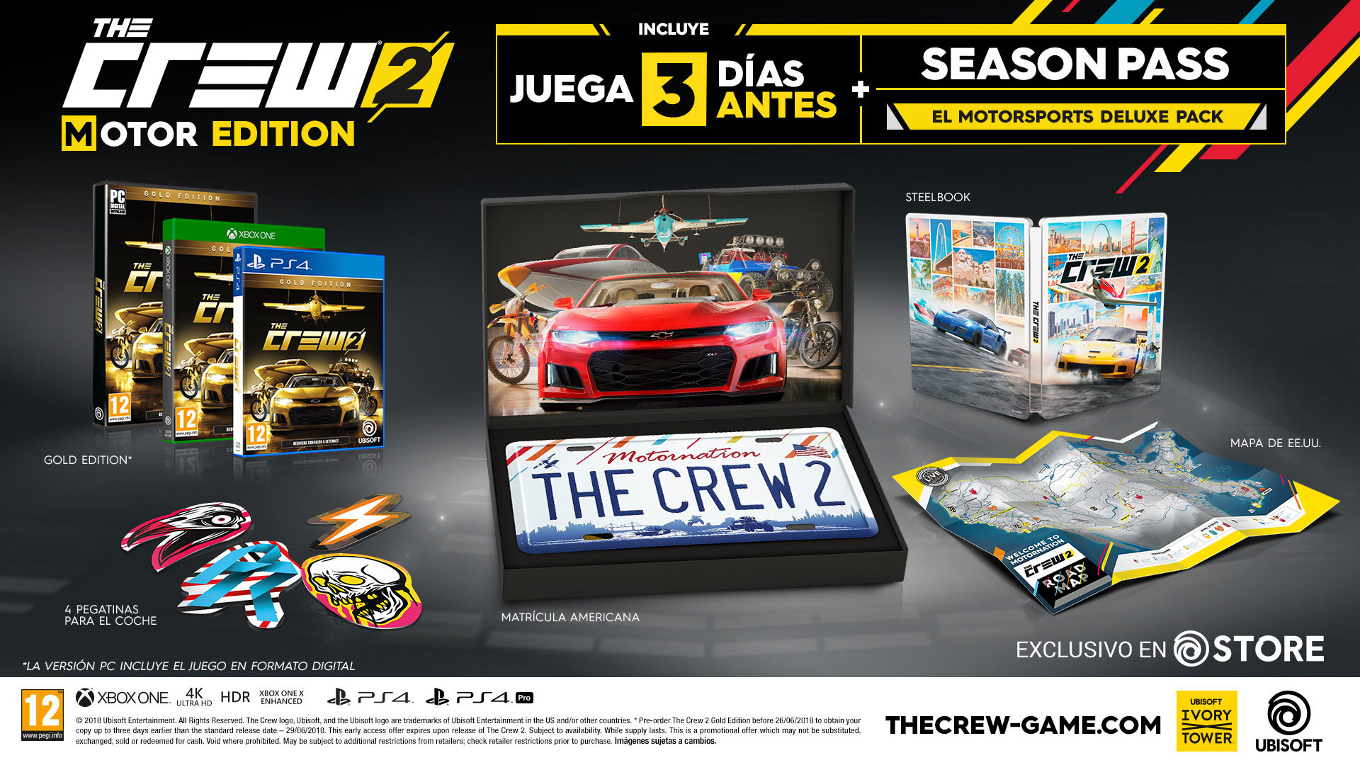 39 the crew 2 39 anuncia su nueva fecha de lanzamiento en ps4. Black Bedroom Furniture Sets. Home Design Ideas