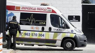 La ambulancia que trasladó a Coquelin