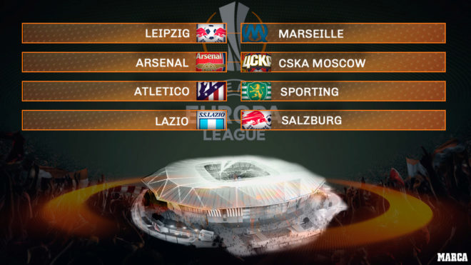 Europa League Draw Rb Leipzig Vs Marseille Arsenal Vs Cska Moscow