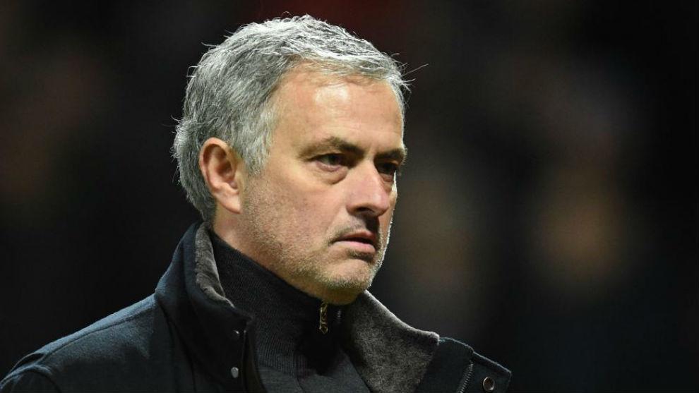 Mourinho en un momento de la eliminatoria ante el Sevilla