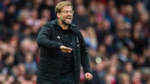 Klopp, en un partido del Liverpool.