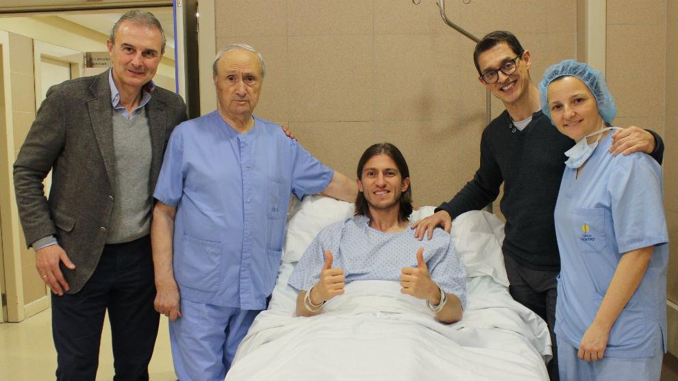 Filipe, operado: estará dos meses de baja