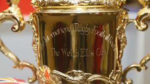 Inscripción del Trofeo Webb Ellis