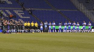 Se guardó un minuto de silencio en el Estadio Cuauhtémoc