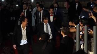 Matías Almeyda a su llegada a la presentación de la película de...