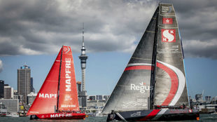 El Mapfre, en Auckland, con el Sun Hung Kai.