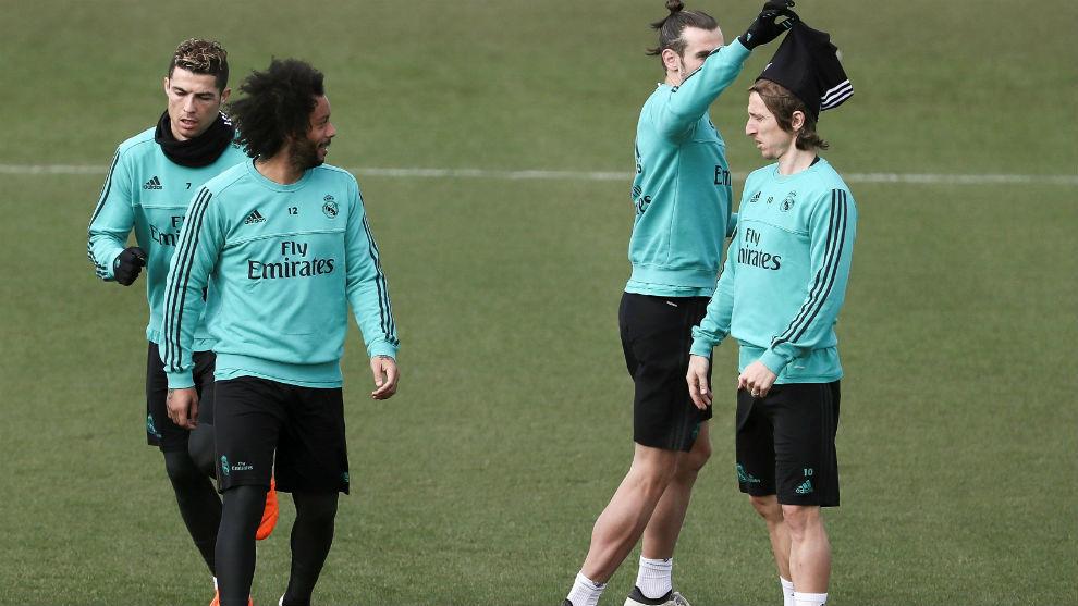 Bale y Modric vuelven con el grupo