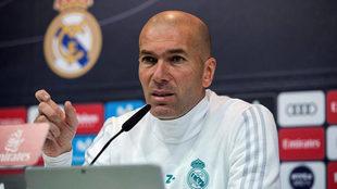 Zidane, en una rueda de prensa.