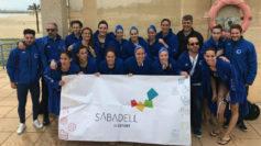 El Astropool Sabadell, tras conseguir el pase a la Final a Cuatro.