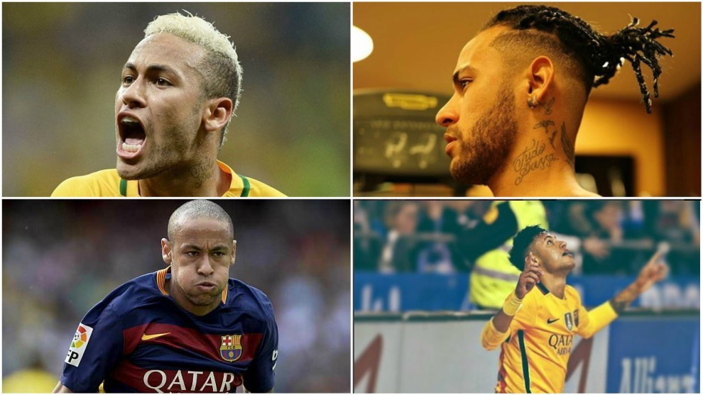Brazil Neymar S Hairstyles Through The Years From A