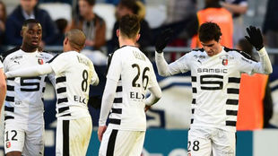 Yoan Gourcuff no quiso celebrar su gol al Girondins Burdeos.