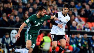 Amat, en el partido frente al Valencia