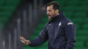 Quique Sánchez Flores pide calma a sus jugadores.