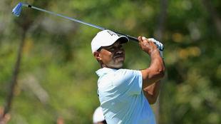 Tiger Woods, durante la tercera jornada del Anrold Palmer...