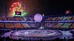 El esatdio olímpico el día de la inauguración
