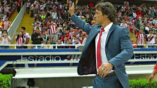 Matías Almeyda al finalizar el duelo ante Tigres