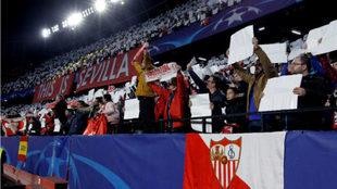 Partido de Champions en el Sánchez-Pizjuán.