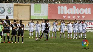 Jugadoras del Fundación Albacete y Rayo vallecano guardan un...
