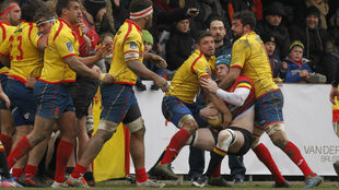 Un momento del encuentro entre España-Bélgica