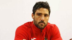 Jaime Nava en la rueda prensa previa al partido con Bélgica.