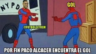 Finally Paco Alcacer finds the goal