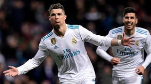 Cristiano celebra su gol al Girona