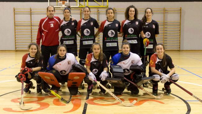 Las integrantes del primer equipo del Hostelcur Gijón.
