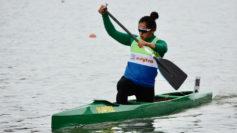 María Corbera, durante el Campeonato de España de Invierno.