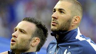 Valbuena y Benzema, juntos en la selección francesa en 2014