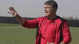 Pedro Morilla, durante un partido del filial del Granada de este año