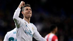 Cristiano celebra un gol ante el Girona