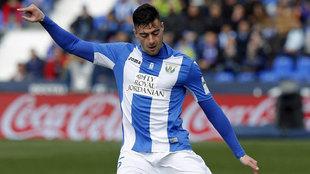 Diego Rico durante un partido