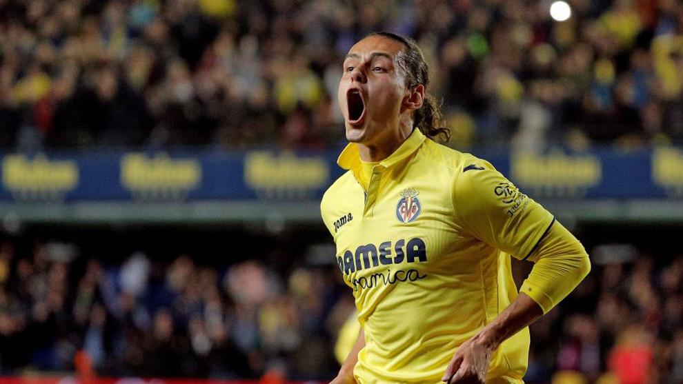 Enes Ünal celebra uno de sus goles al Atlético