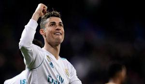 Cristiano celebra uno de sus goles al Girona