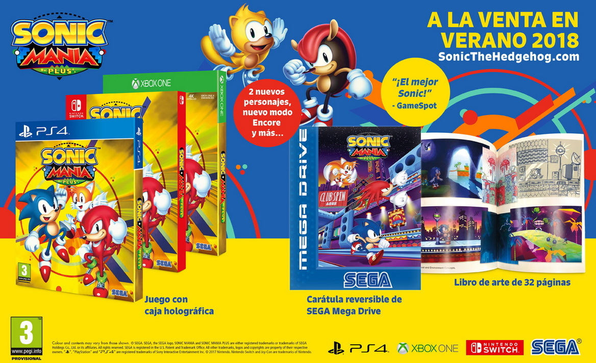 Sega Anuncia Sonic Mania Plus Para Ps4 Xbox One Switch Y Pc