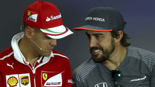 Alonso y Vettel.