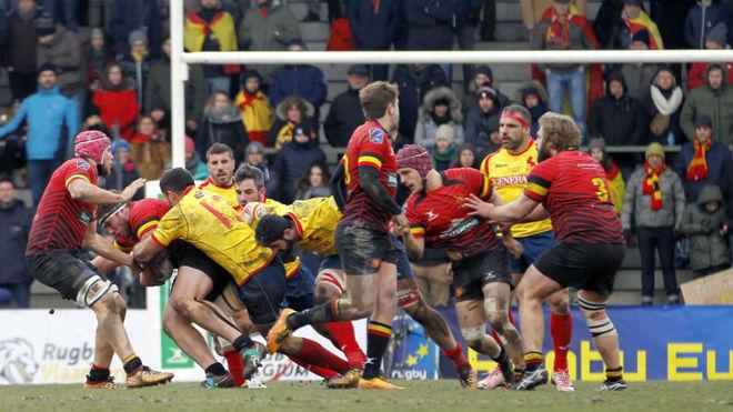 Instante del Bélgica-España
