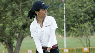Ana Patricia Botín, durante un torneo de golf.