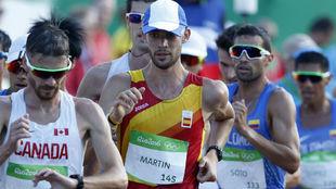 Álvaro Martín, durante los Juegos Olímpicos