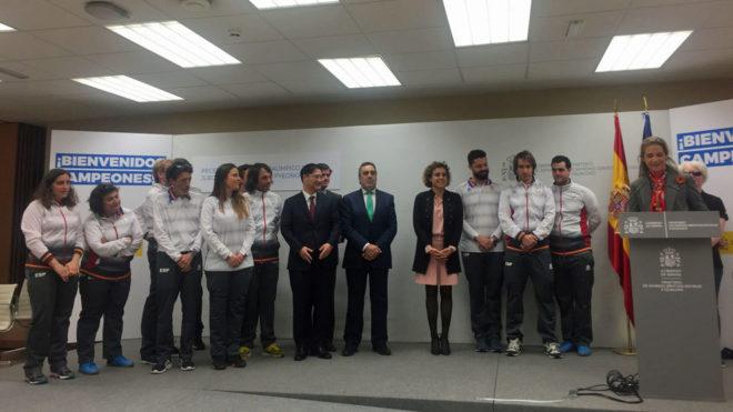 Acto de homenaje al equipo paralímpico español de Pyeongchang en el...